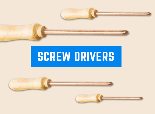 Non-Sparking Screw Drivers